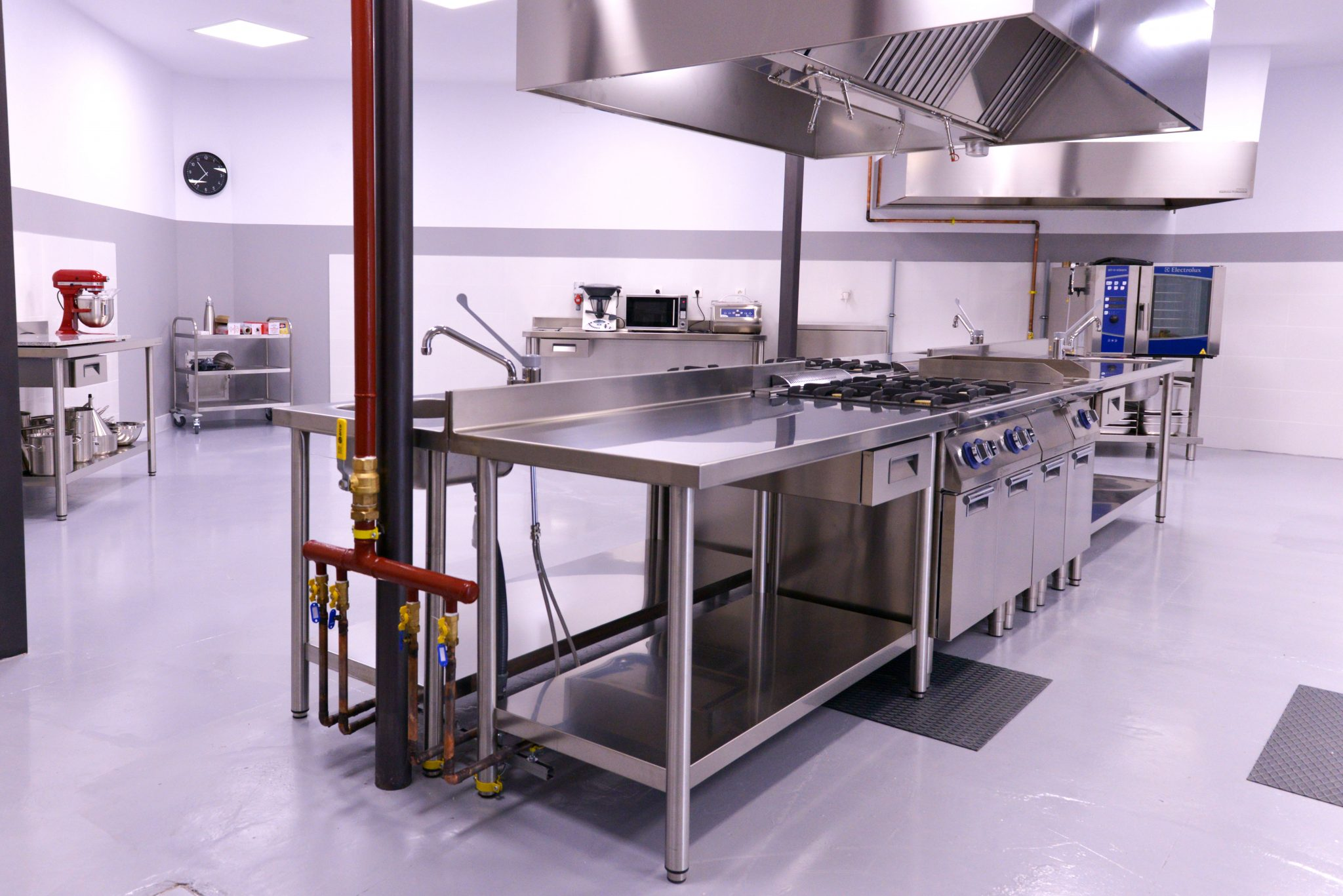 la maquinaria electrolux de nuestra cocina profesional